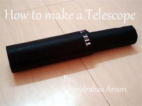 How To Make Paper Telescope - how to make a telescope