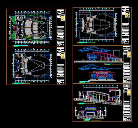 salas de conciertos sala de conciertos en autocad descargar cad 1 8 mb