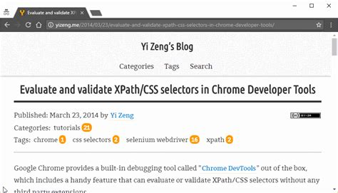 chrome xpath console evaluate and validate xpath css selectors in chrome