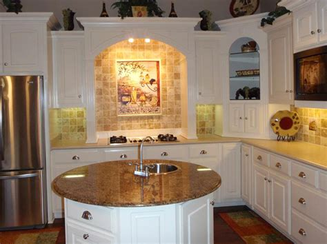 Circular Kitchen Island Classic Backspalsh Conventional Stove White Cabinets Kitchen Island Kvriver