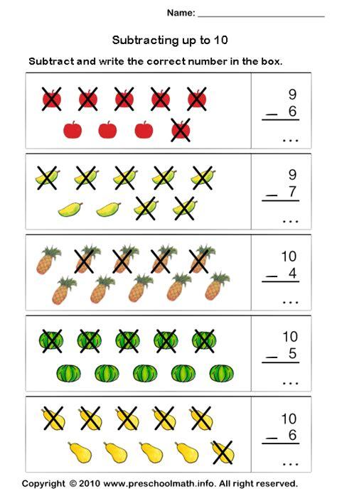 printable subtraction games for kindergarten kindergarten math worksheets free preschool subtraction