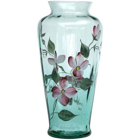 Painted Fenton Vase by Quot Fenton Quot Glass Painted Vase Signed Quot Fenton