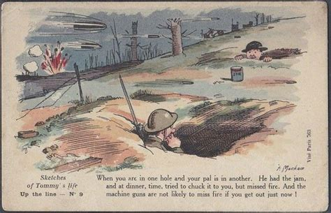 Two sketches of tommy s life postcards trench humour maclain in