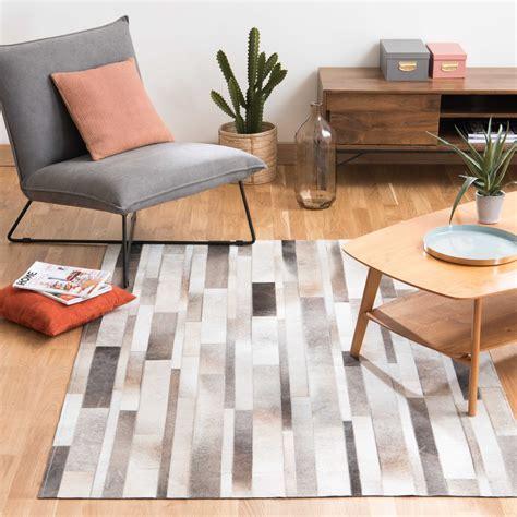 lederen tapijt tapijt leder 160 x 230 arty maisons du monde