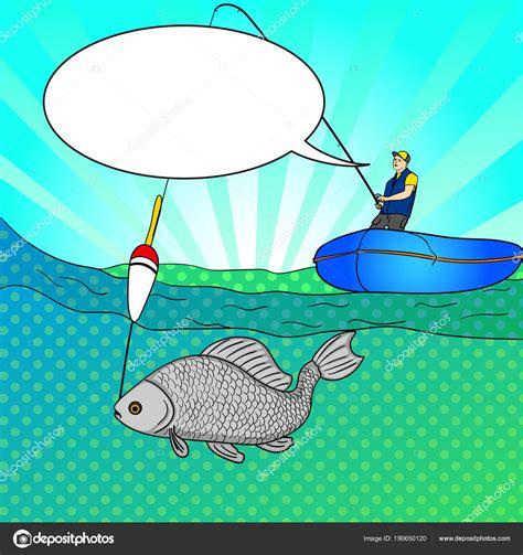 barcos de pesca animados arte pop hombre que pesca en mar abierto dibujos animados