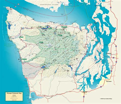olympic national park map olympic national park and peninsula map olympic national park wa us mappery