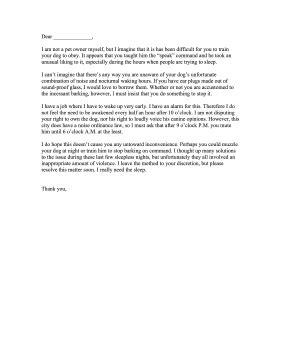 Barking Letter