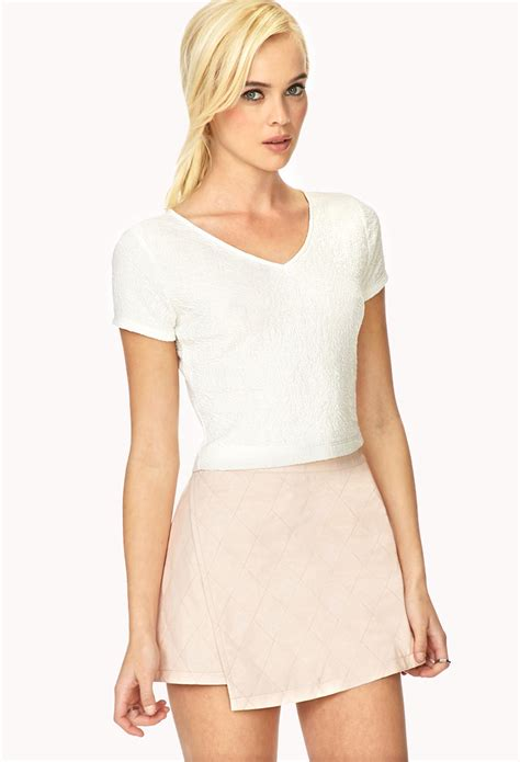 21 Best Images About forever 21 favorite mateless 233 crop top in white lyst