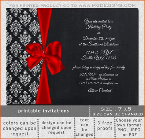 8 holiday invitation templates bookletemplate org