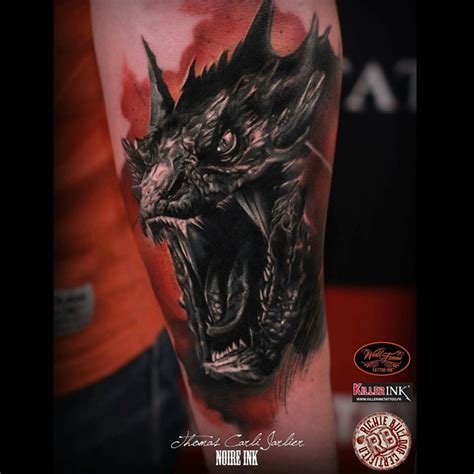 portrait of smaug tattoo on arm best tattoo ideas gallery