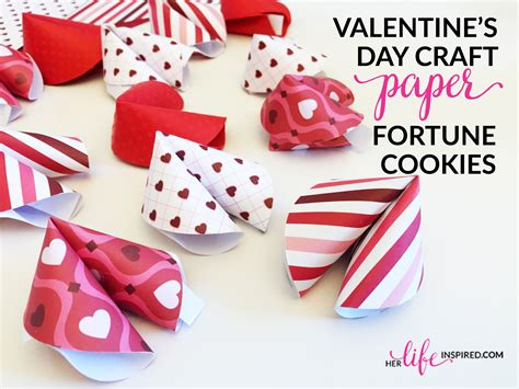 s day fortune cookies valentine s day craft paper fortune cookies