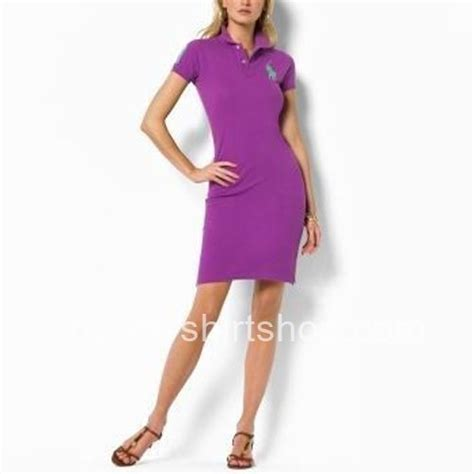 Ralph Lauren Big Pony Womens Purple Polo Dresses [Ralph