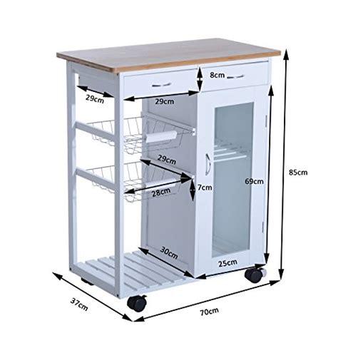 carrello cucina con cassetti homcom carrello da cucina con cassetti e 2 cesti in