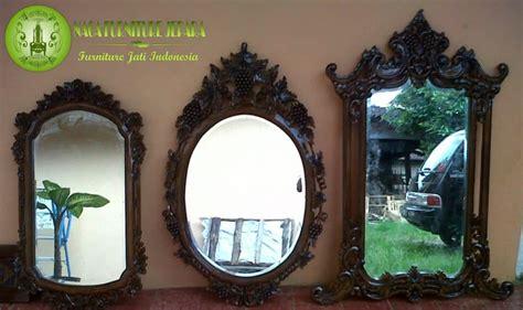 Cermin Kayu by Pigura Cermin Dinding Kayu Jati Ukir Minimalis
