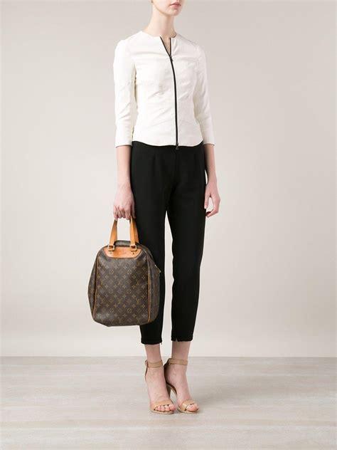 Louis Vuitton Shoe Bag lyst louis vuitton excursion shoe bag in brown