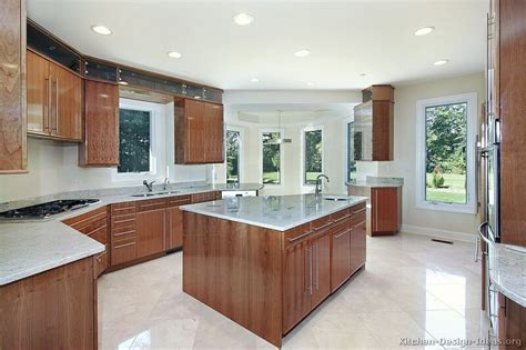 Contemporary Kitchen Cabinets by Pictures Of Kitchens Modern Medium Wood Kitchen