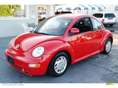 volkswagen red car 1998 tornado red volkswagen new beetle 2 0 coupe 48663641