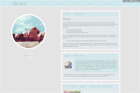 free themes for tumblr with profile picture rp theme hunters