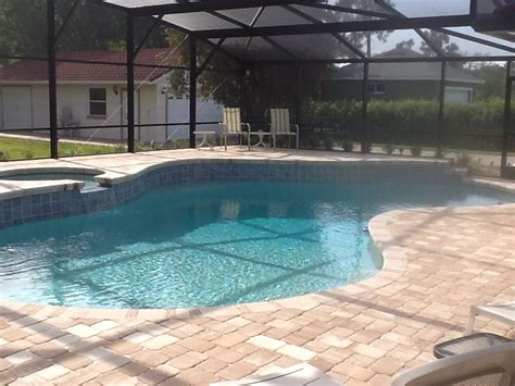 pool patio pavers pavers vs sted concrete pros and cons outdoor