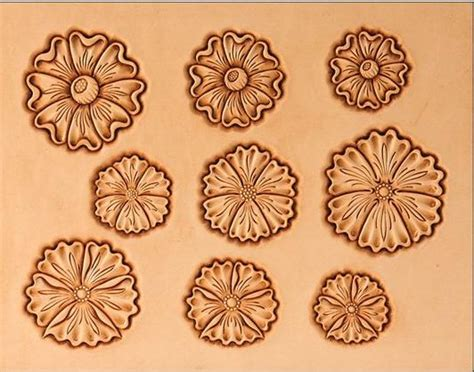 Flower Pattern Leather craftaids leathercraft pattern template standing