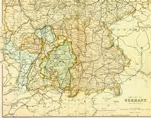 Map Of Southern Germany by Ancestral Roll Family 1891 Southern Germany Map