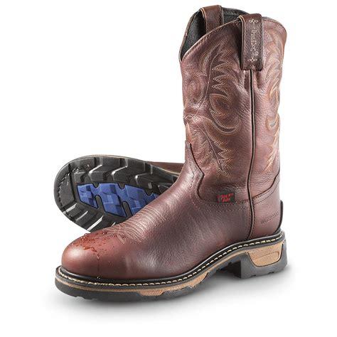 tony lama work boots s tony lama 174 waterproof steel toe pull on work boots