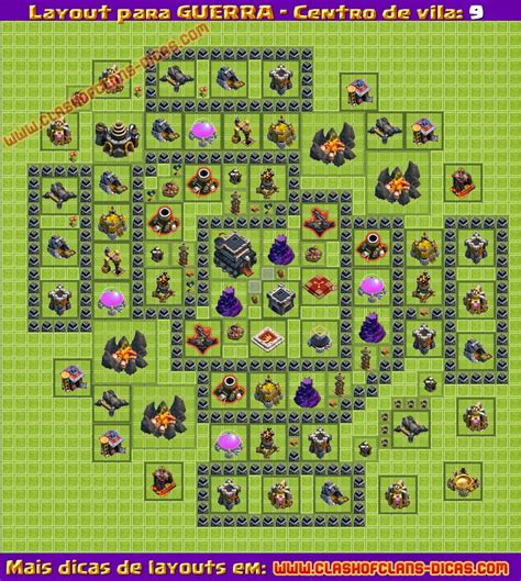 layout cv guerra layouts de guerra para cv9 clash of clans dicas