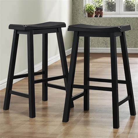 Saddle Bar Stools 29 Inch by Derby 29 Inch Saddle Seat Stool In Black Shop Wood Bar