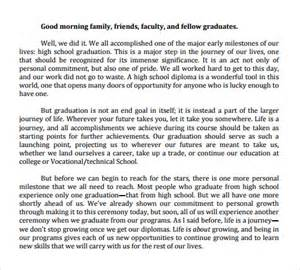 Graduation Speech Template by Speech Exles 23 Free Documents In Pdf Word