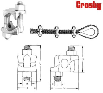 crosby wire rope clip installation grip unirope ltd