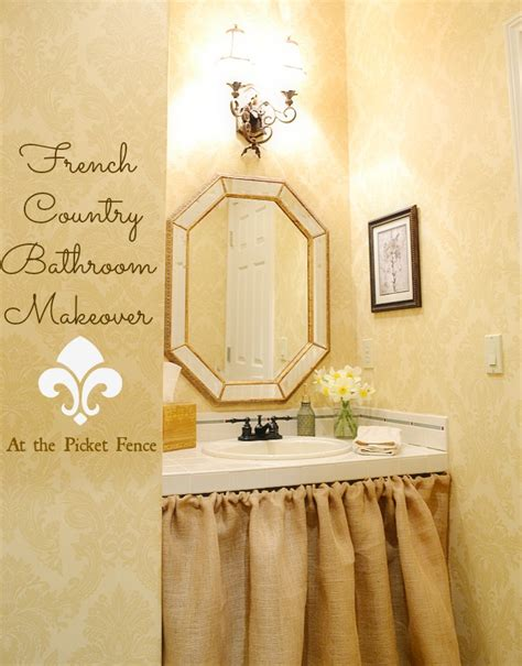 french country bathroom decorating ideas french country bathroom makeover at the picket fence