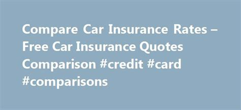 Car Insurance Comparison Quote 5 by Collection Car Insurance Quotes Comparison Photos Daily