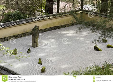 Sand And Gravel Portland Portland Japanese Sand And Garden Stock Image