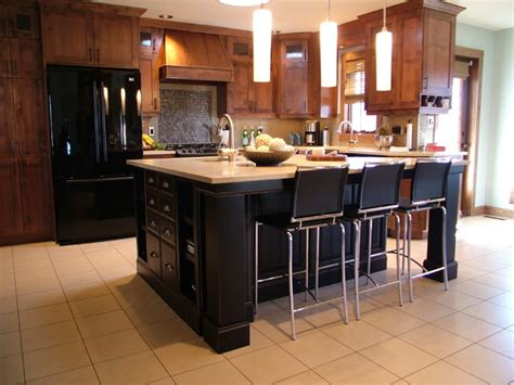 black island kitchen transitional kitchen remodel with black island