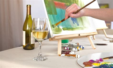 paint nite groupon orlando wine and paint creative canvas groupon