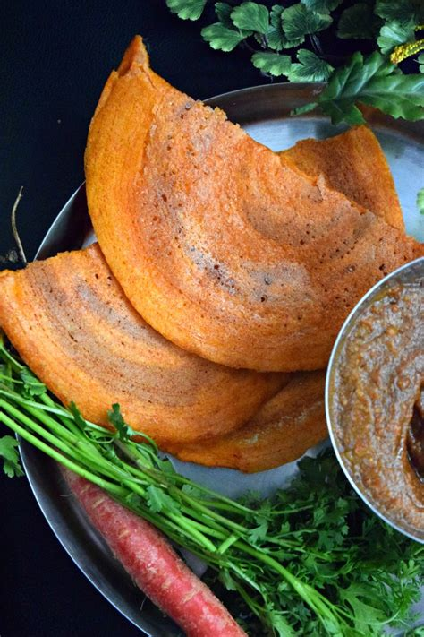 Instan Crepe instant carrot oats dosa crepes cookilicious
