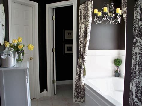 black and white bathroom ideas colorful bathrooms from hgtv fans bathroom ideas