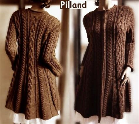etsy pilland pattern hand knit wool cable sweater coat cable knit sweater many