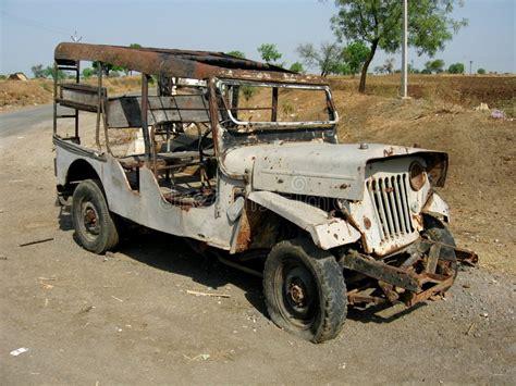 Jeep Ii broken jeep ii stock photo image of puncture useless