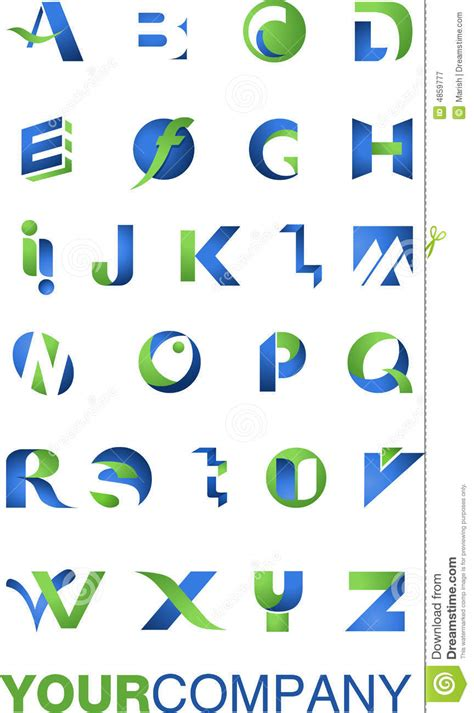 logo alphabet a z logo alphabet royalty free stock photography image 4859777