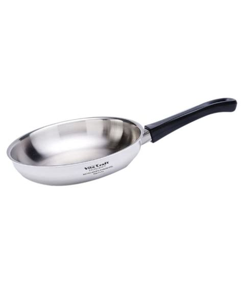 Panci Staenless Steel Vita 10 Pc vita craft silver stainless steel chef pan and cover set buy at best price in india