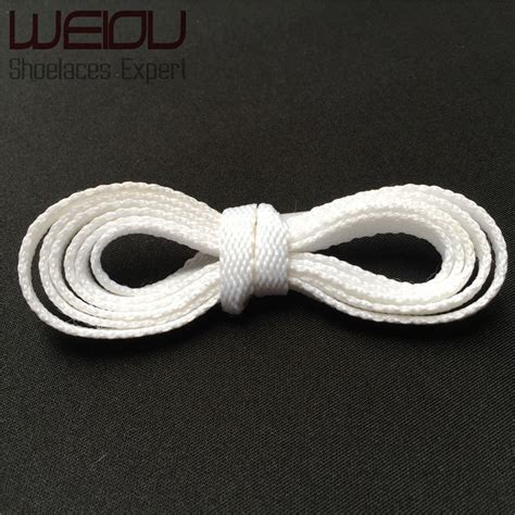 weiou heavy duty white cleaning shoe laces cotton flat