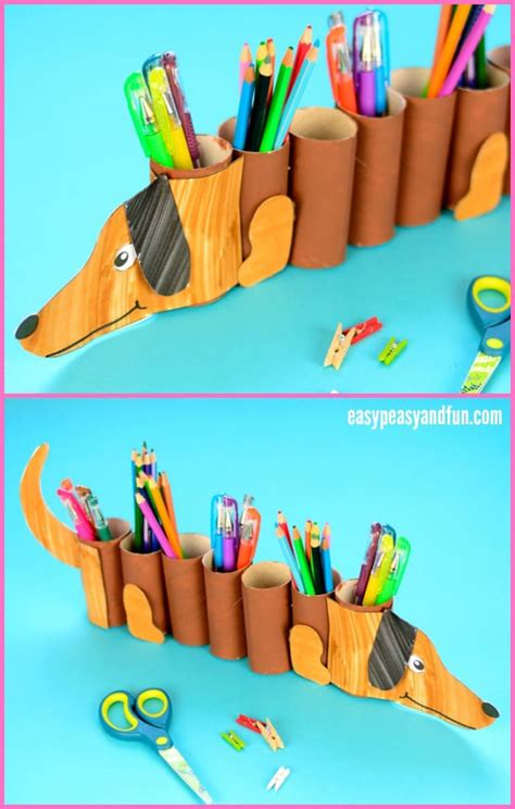 How To Make A Paper Pencil Holder - paper roll pencil holder easy peasy and