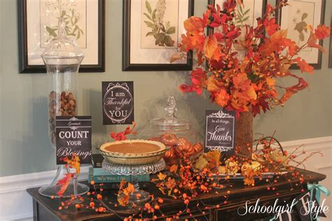 thanksgiving home decorations ideas celebrate thanksgiving with sgs schoolgirlstyle