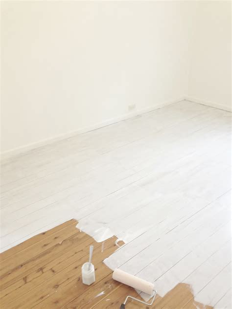 Floor Paint Wooden Floorboards by Lighten Up With Painted White Floorboards