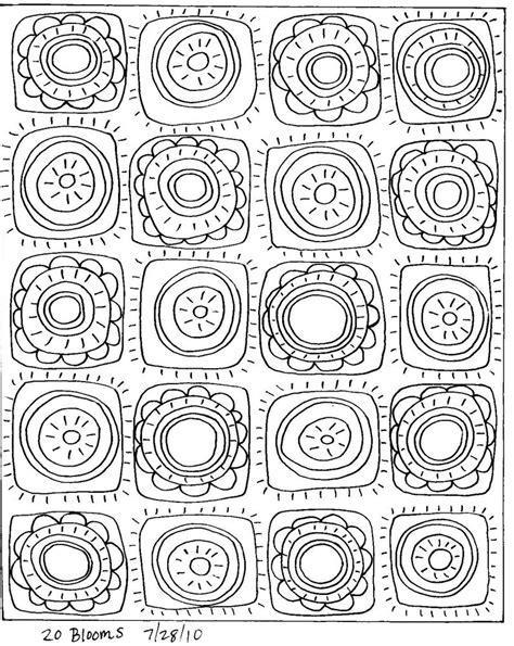 printable art patterns rug hooking craft paper pattern 20 blooms folk art prim