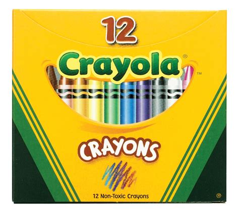 Crayon Eselon 12 Warna 3 Box Crayola Standard Size Crayons Assorted Colors Classroom