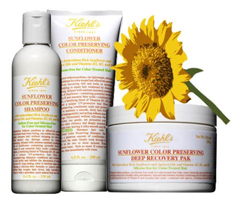sunflower color preserving hair care from kiehl s