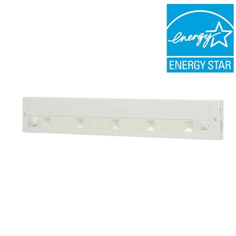 juno under cabinet lighting juno 18 in white led dimmable linkable under cabinet