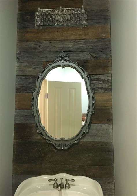 reclaimed wood bathroom wall cabinet reclaimed wood feature bathroom wall with vintage mirror